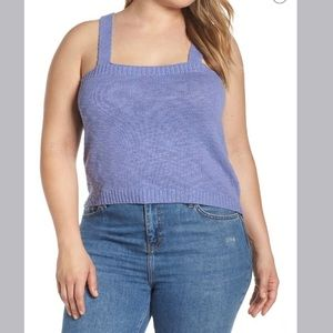 NWT BP Straight Up Sweater Tank Blue Size 3X